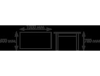 Стол Прямоугольный на широком каркасе