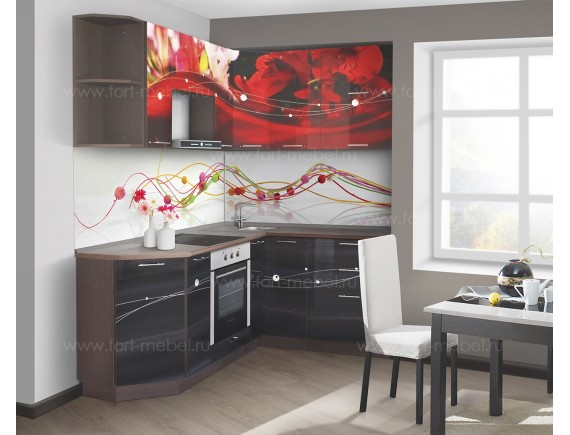 Кухонный гарнитур «Красные лепестки»